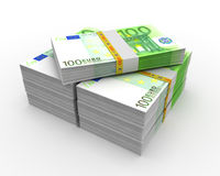 100 euro. Euros € EUR money official currency of the European union Royalty Free Illustration