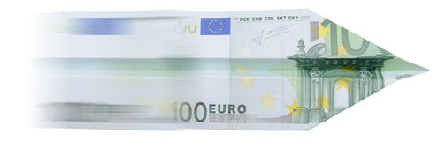 100 euro airplane stock photography
