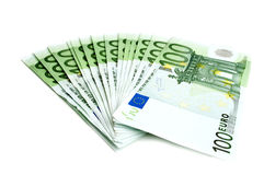 100 euro banconote Immagini Stock