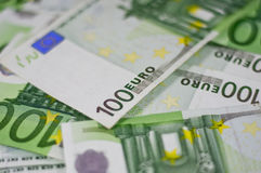 100 Euro bank notes Stock Photos