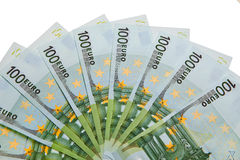 100 Euro banknotes. Stock Photo