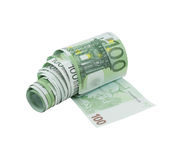 100-Euro Bill Money Toilet Paper Royalty Free Stock Images