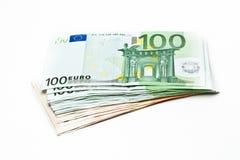 100 euro billets de banque Image stock