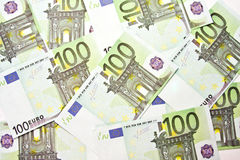 100 EURO bills background Royalty Free Stock Image