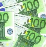 100 euro- detalhes Fotos de Stock