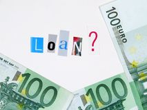 100 Euro loan Royalty Free Stock Photos