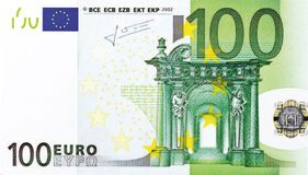 100 Euro note Stock Image