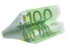 100 euro's aircraft Stock Photography