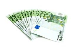 100 Eurobanknoten Stockbilder