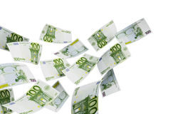 100 euros Arkivfoto