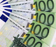 100 Euros Background royalty free stock photography