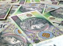 100 factures de PLN/Zloty Image stock