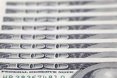 100 fatture del dollaro Fotografie Stock Libere da Diritti