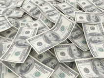 $100 fatture del dollaro Fotografie Stock