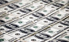 $ 100 fatture del dollaro Fotografia Stock