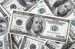 100 fatture del dollaro si chiudono in su Fotografie Stock Libere da Diritti