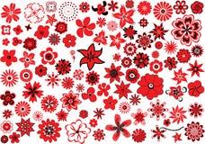 100 flores ilustração stock