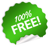 100% free sticker. 100 percent free sticker isolated over white Stock Illustration
