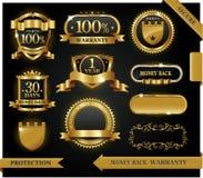 100 garanterad etiketttillfredsställelsevektor Arkivfoton
