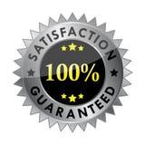 100 garanterad tillfredsställelsevektor Royaltyfria Bilder