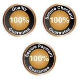 100% Garantie-Set Lizenzfreie Stockbilder