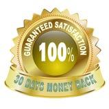100% garantierte Zufriedenheit Stockfotos