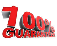 100 garantis. Photo stock