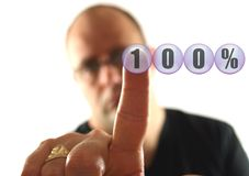 100 ger sig Arkivbild