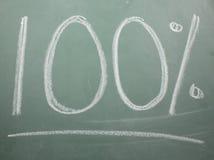 100% geschrieben auf schwarzen Vorstand Stockbild
