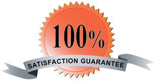 100% gewaarborgde tevredenheid Stock Foto's