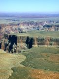 100 Grand. An aerial view of the beginnings of the Grand Canyon royalty free stock photo