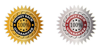 100 % GUARANTEE. Tag vector illustration royalty free illustration