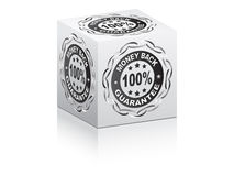 100 % GUARANTEE box. Vector illustration Royalty Free Stock Photography