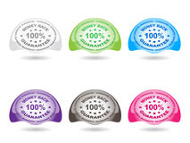 100 % GUARANTEE buttons Royalty Free Stock Photos
