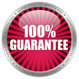100 guarantee icon. 100 guarantee label on white background royalty free illustration