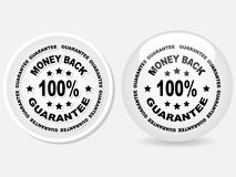 100 % GUARANTEE label Stock Images