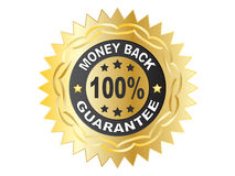 100 % GUARANTEE label. Vector illustration Royalty Free Stock Image