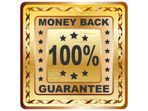 100 % GUARANTEE label. Vector illustration Royalty Free Stock Images