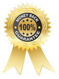 100 % GUARANTEE medal royalty free stock image
