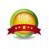 100% guaranteed. A icon in website 100% guaranteed,and 5 stars Royalty Free Stock Photo