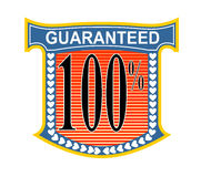 100% guaranteed. Vector art of a 100% guaranteed badge Vector Illustration
