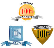 100% guaranteed icon. Vector art on business icons isolated on white background Royalty Free Stock Image