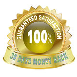 100% Guaranteed Satisfaction. Illustration of 100% Guaranteed satisfaction Icon Stock Photos