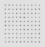 100 guzików interfejs Zdjęcie Royalty Free