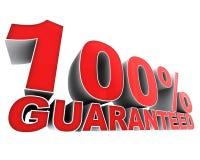 100 gwarantujący Zdjęcie Stock