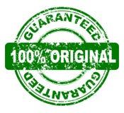 100 gwarantujący znaczek Zdjęcia Royalty Free