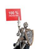 100% ha protetto Fotografia Stock