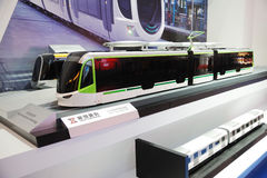 100% het model van de laag-vloerLRV tram Stock Foto's