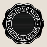 100% Home Made Seal. In Black & White vector illustration
