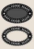 100% Home Made Seal. In two variations vector illustration